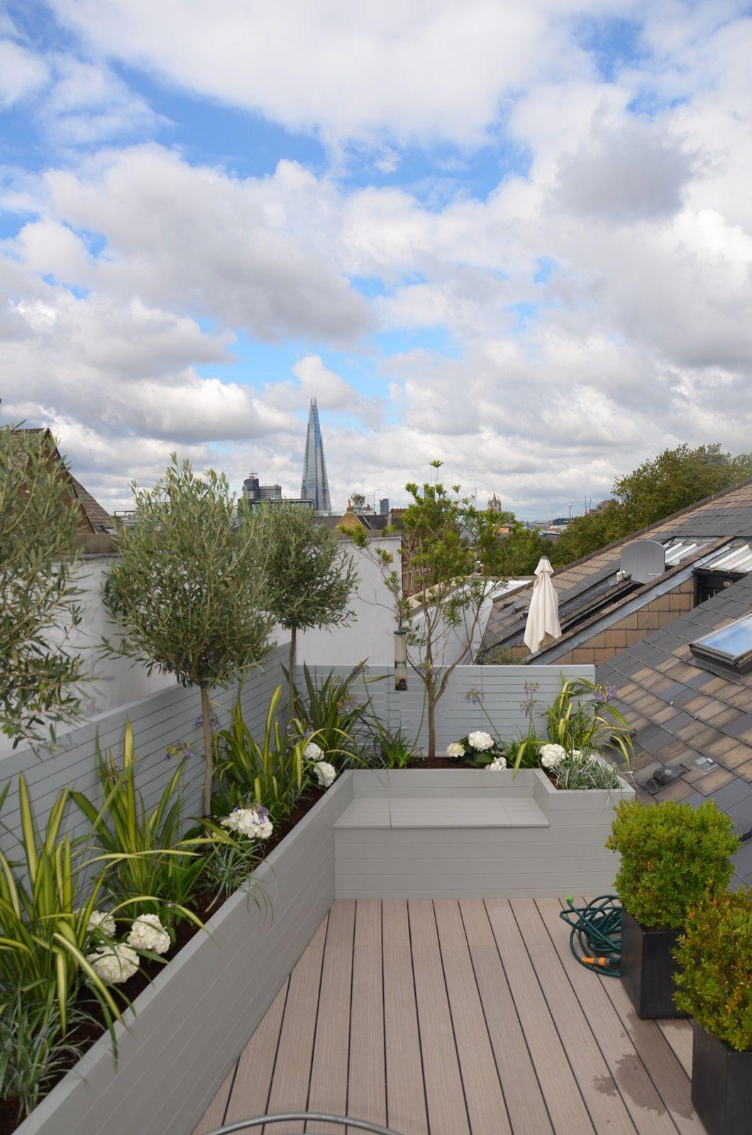 Roof Terrace And Balcony Garden Design Tower Bridge Fulham Chelsea Battersea London With Images Terrace Design Roof Terrace Terrace Garden