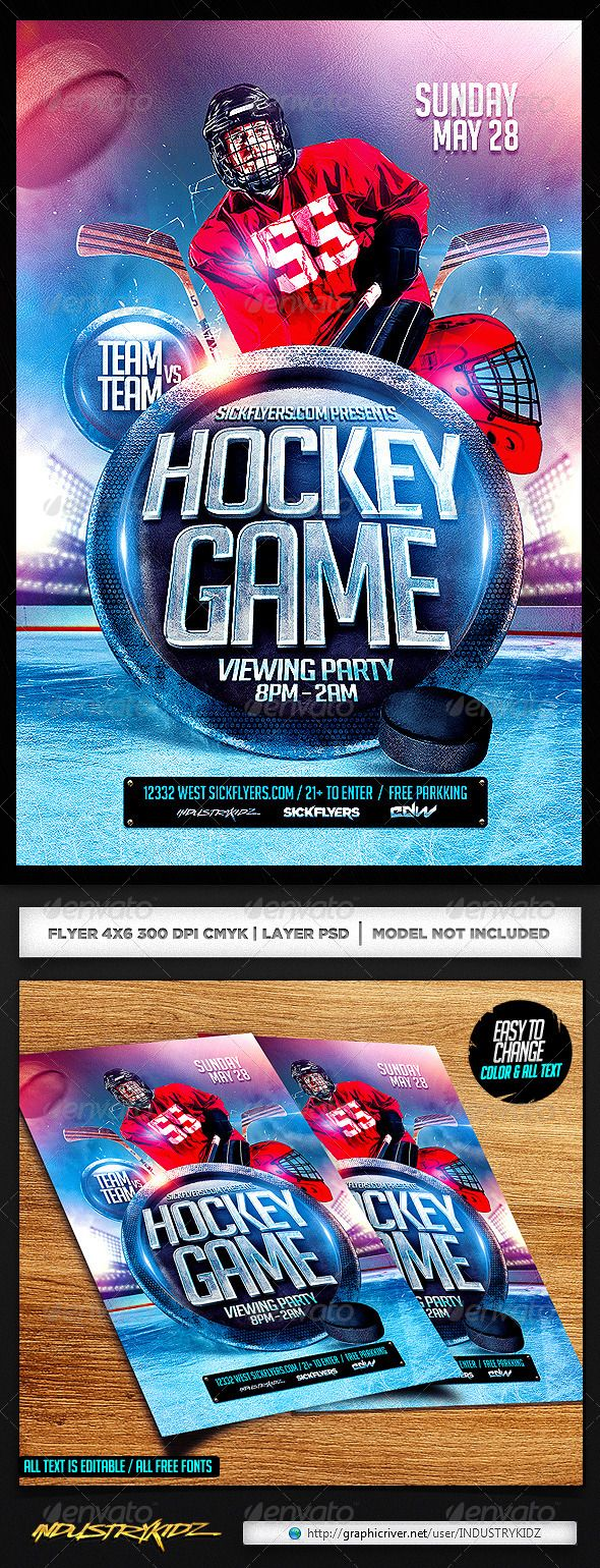 Hockey flyer psd pinterest hockey flyer template and template hockey flyer psd maxwellsz
