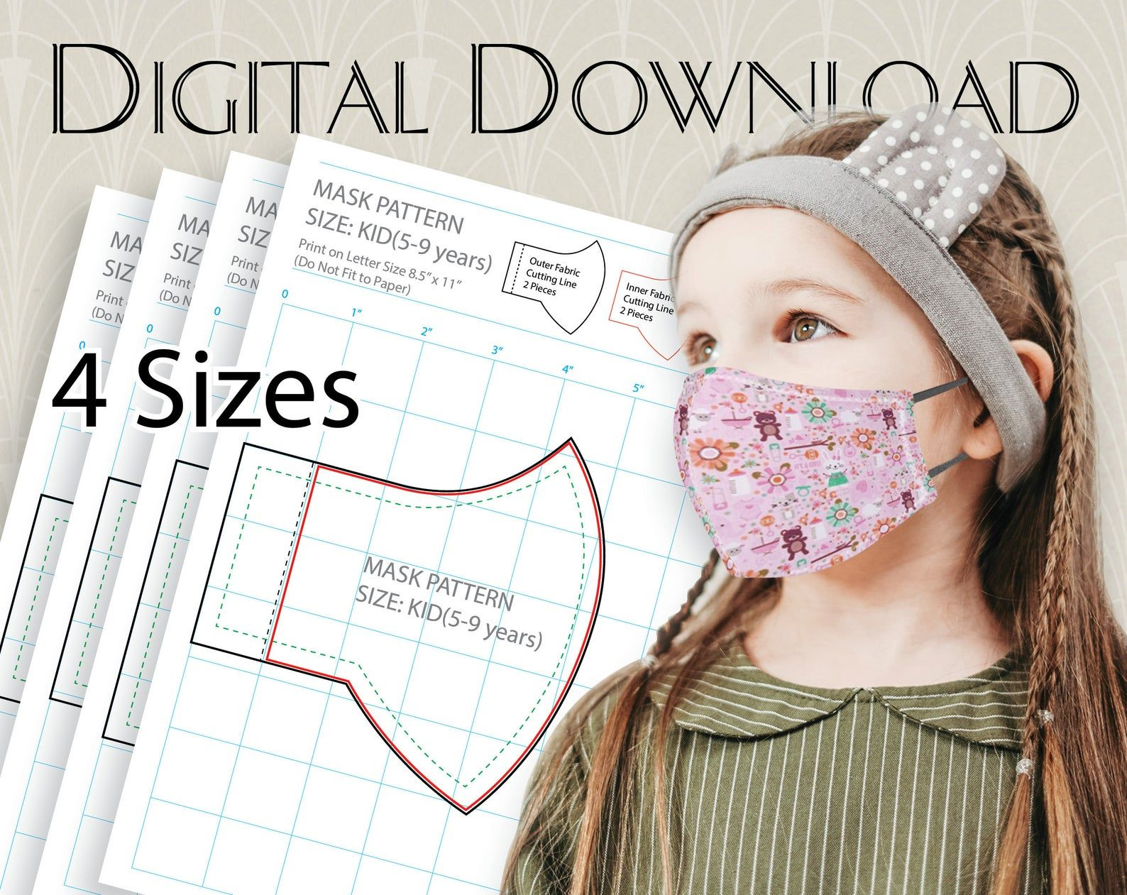 3 D Cloth Face Mask Pattern Digital Wedding Face Mask Pdf Face Mask Svg Vozeli Com