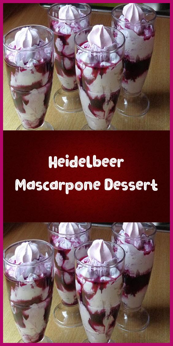 Heidelbeer Mascarpone Dessert