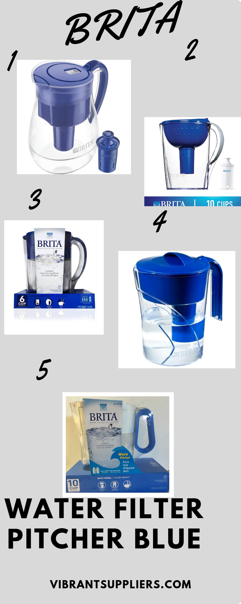 Brita Water Filter Pitcher Blue Brita Water Filter Water Filter