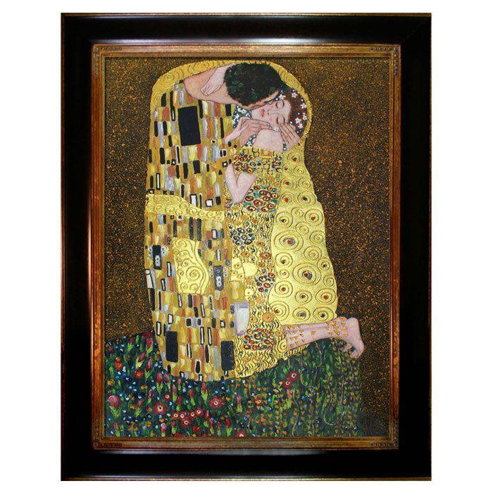 Tori Home \'The Kiss\' by Klimt Framed Original Painting   Home decor ...