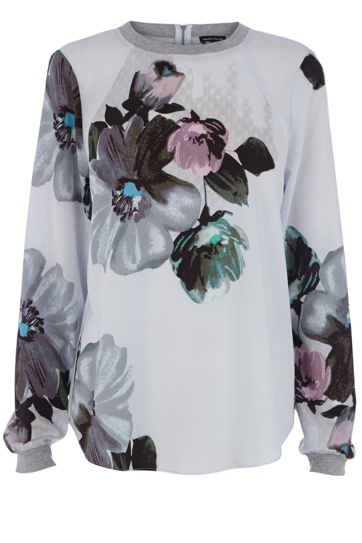 Floral Sweatshirt | Warehouse