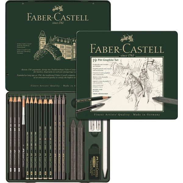 Faber Castell Pitt Graphite Tin Medium The Professional Quality