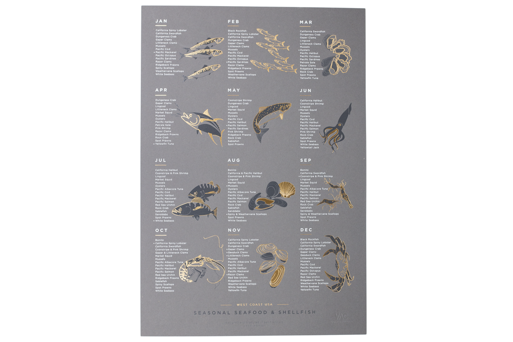 Limited Edition Seafood Poster – Moorea Seal