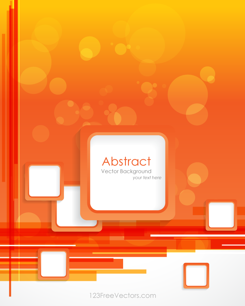 orange background with square design vector template | orange
