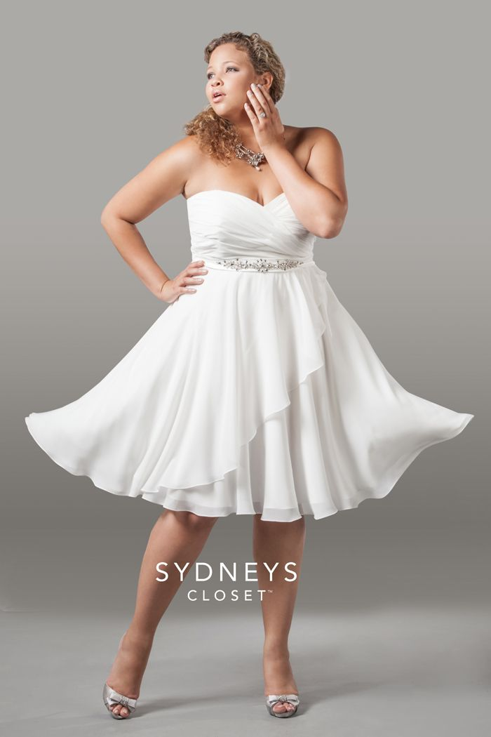 plus size short wedding dresses cheap