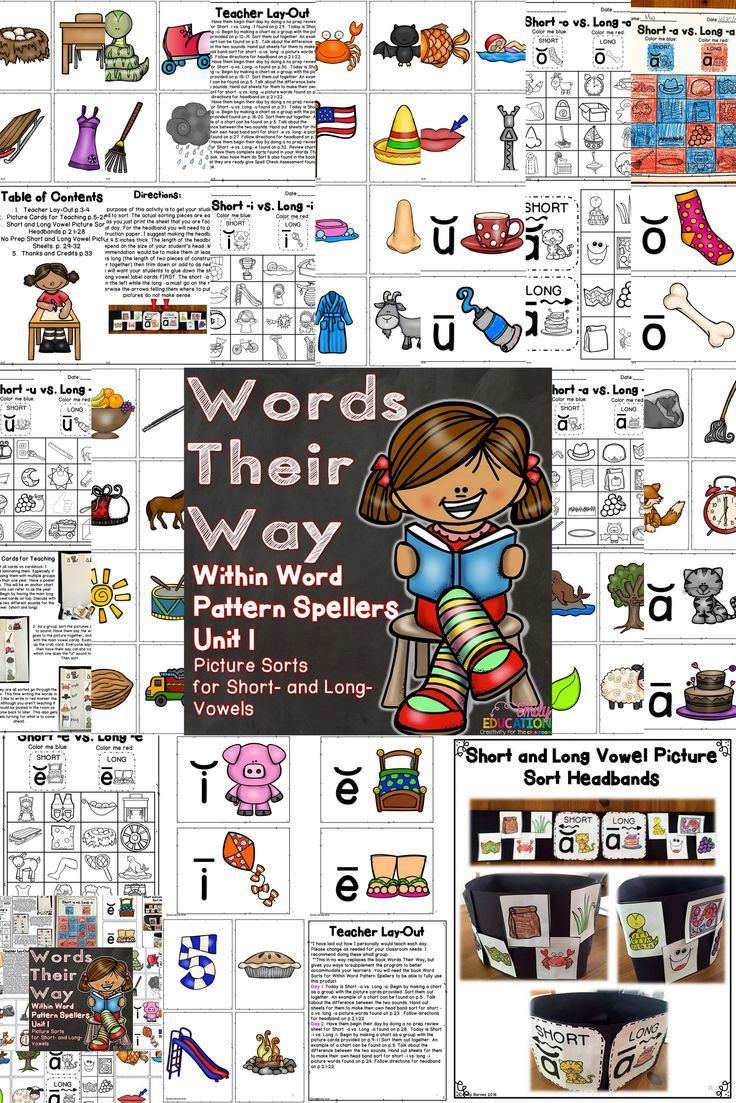 Words Their Way Within Word Pattern Spellers Unit 1 Word