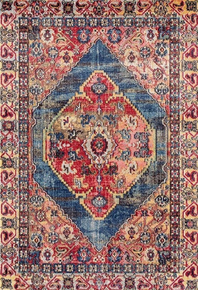 New Red Colorful Oriental Rug Traditional Persian Large