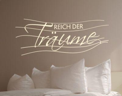 Wandtattoo Sprüche - Wandsprüche NoUL573 Reich der Träume Jetzt - wandtattoo schlafzimmer sprüche