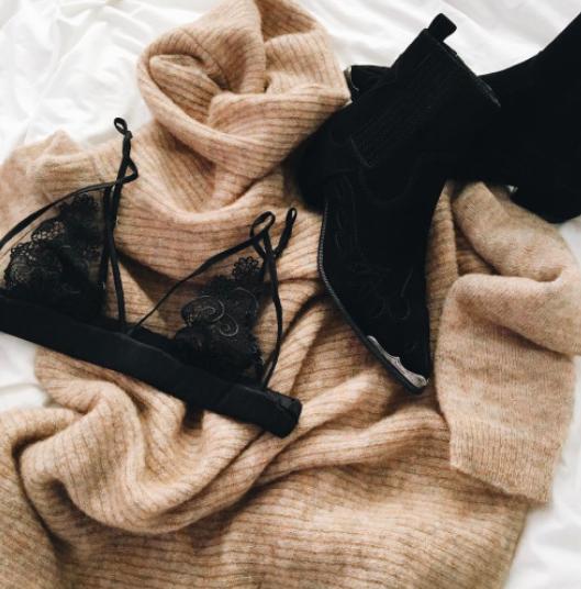 cashmere + lace #clubmonaco