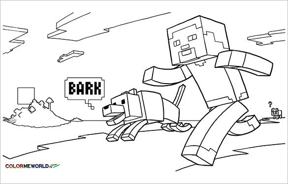 Pin By Emily Refermat On Kids Rooms Minecraft Coloring Pages Dog Rhpinterest: Minecraft Dogs Coloring Pages At Baymontmadison.com