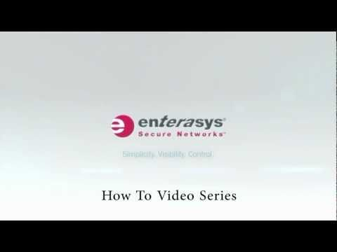 In this video tutorial, Enterasys GTAC veteran Scott Whall