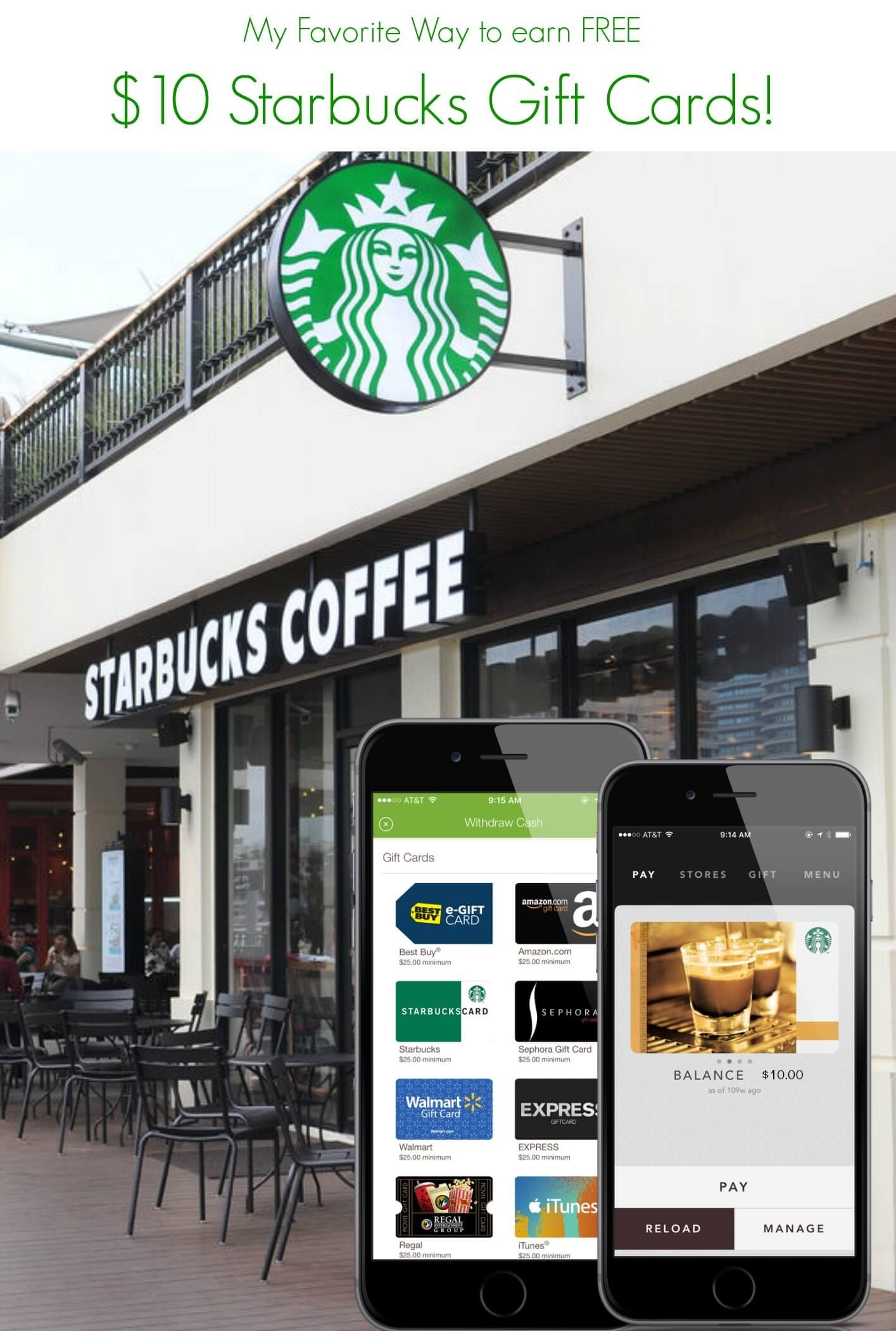 Free starbucks gift cards how to earn a 10 starbucks