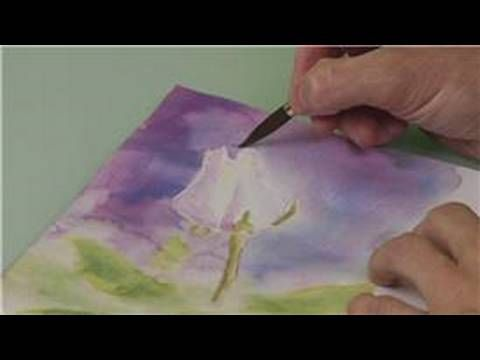 How To Paint A Rose With Watercolors How To Define Areas In