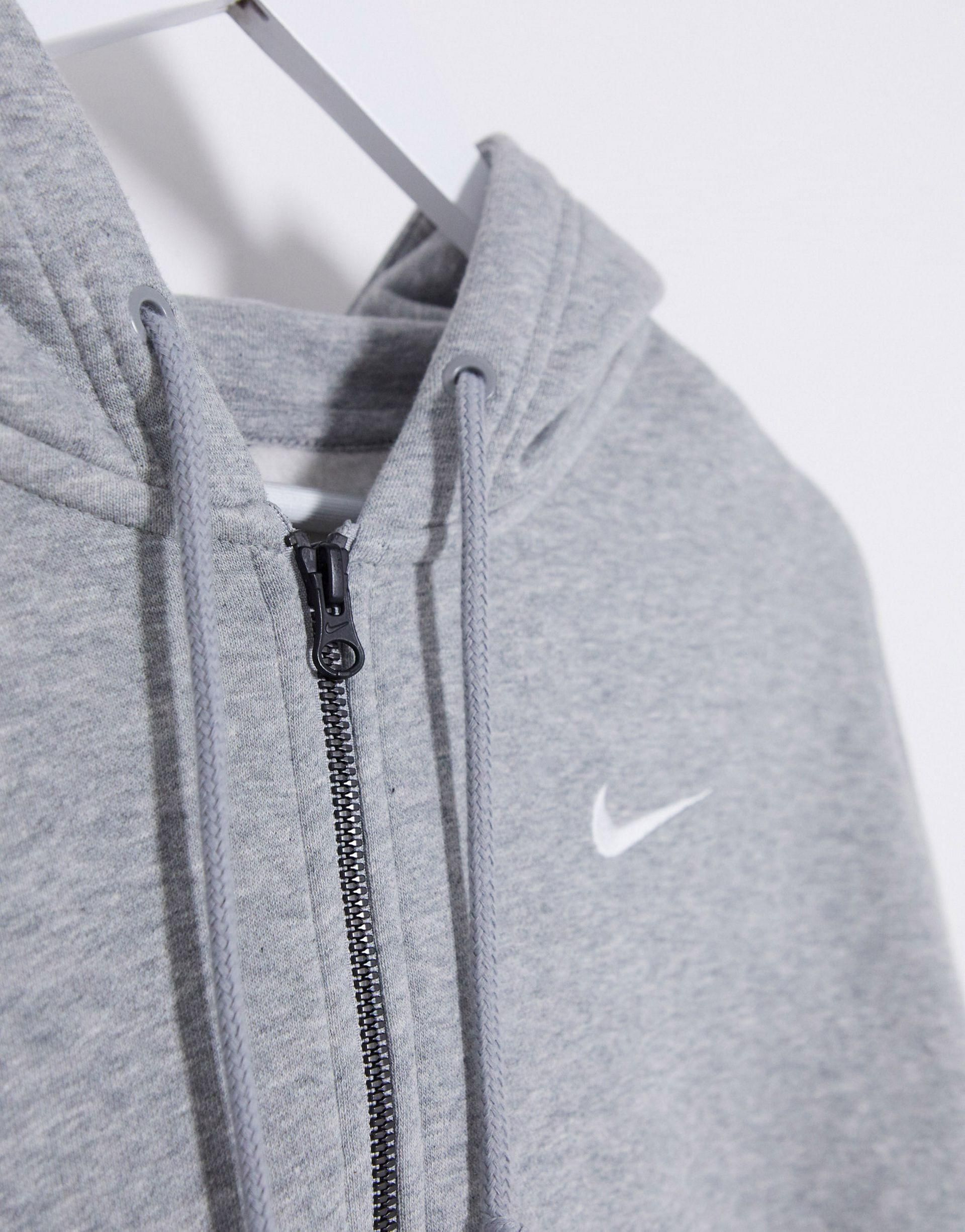 Nike Mini Swoosh Oversized Cropped Gray Zip Through Hoodie Grey Nike Jacket Oversized Hoodie Outfit Grey Jacket Outfit [ 2451 x 1920 Pixel ]