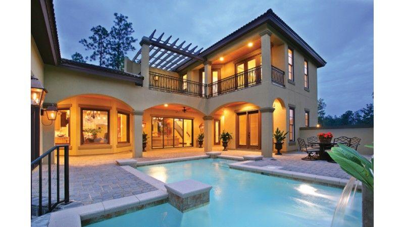 Mediterranean Style House Plan 4 Beds 5 Baths 3031 Sq Ft Plan 930 22 Mediterranean House Plans Mediterranean Homes Mediterranean Style House Plans