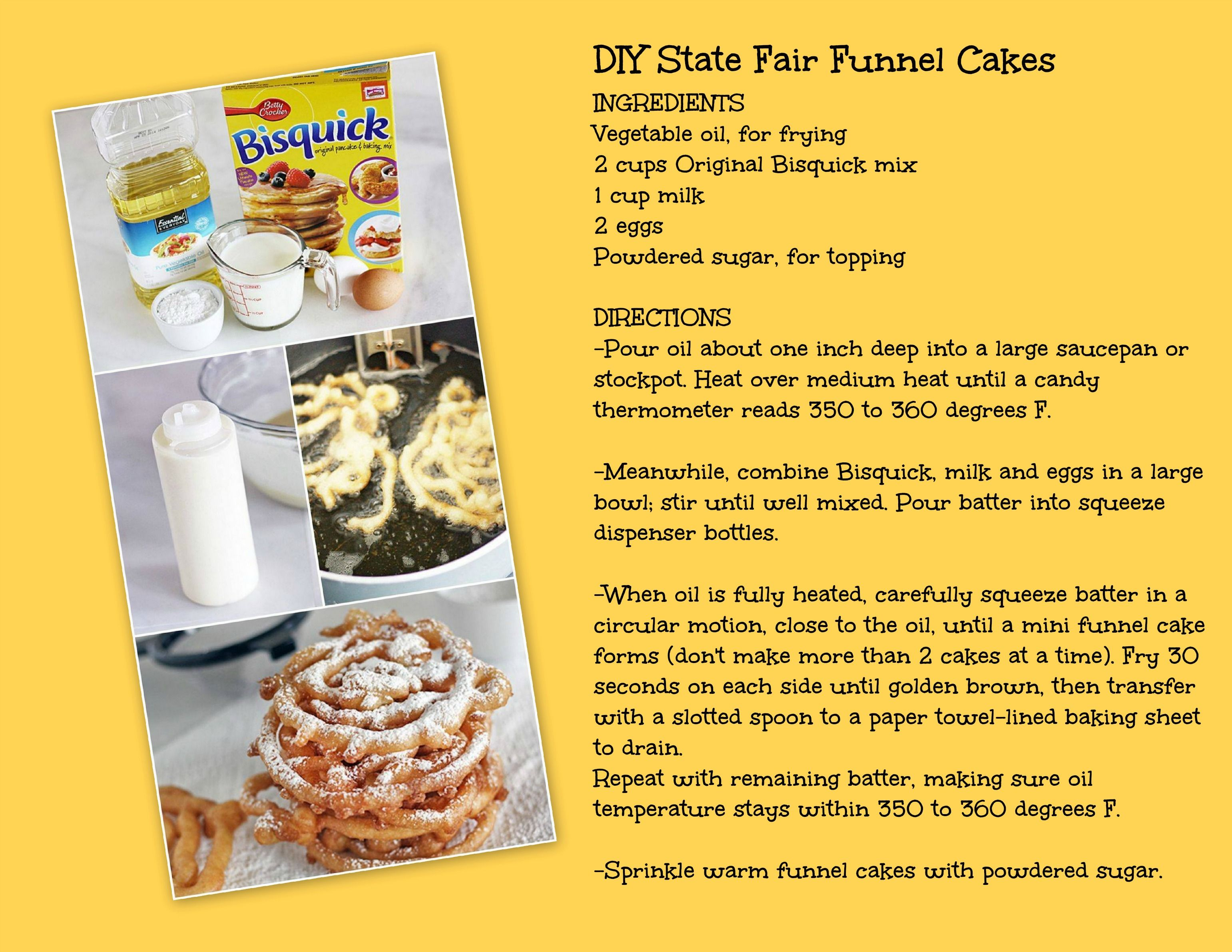 Easy funnel cakes use gf bisquick for gluten free