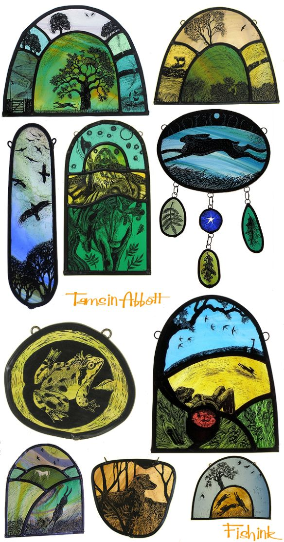 Tamsin Abbott A Vision Of Nature Through Glass Faux Stained