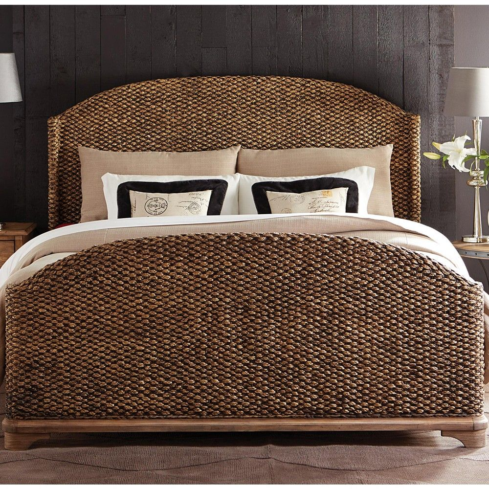 Sherborne Seagrass Woven Bed In Toasted Pecan By Riverside Furniture