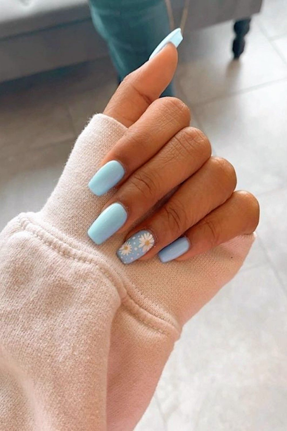Simple Summer Acrylic Nails : simple, summer, acrylic, nails, Designs, Beautiful, Flower, Ideas, Short, Acrylic, Nails, Designs,, Coffin, Short,