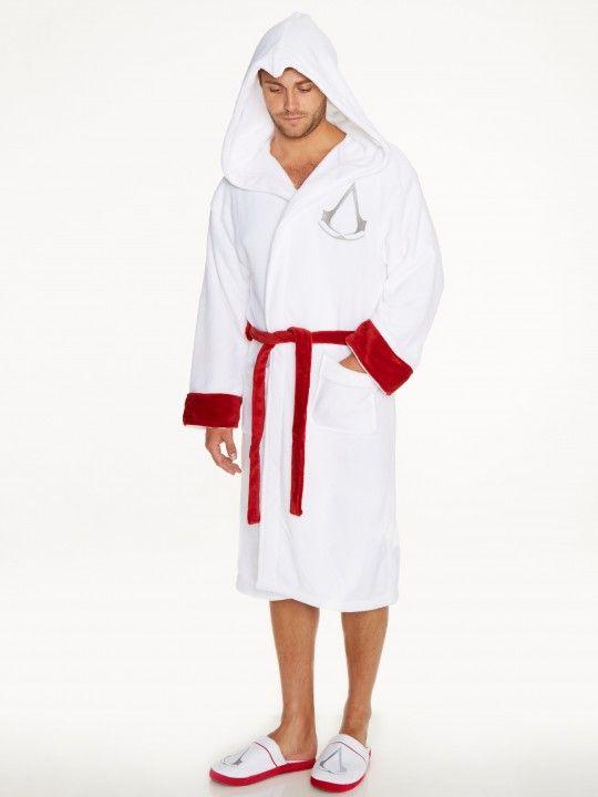 99f04e4f29 Assassin s Creed Assassin White Adult Fleece Bathrobe