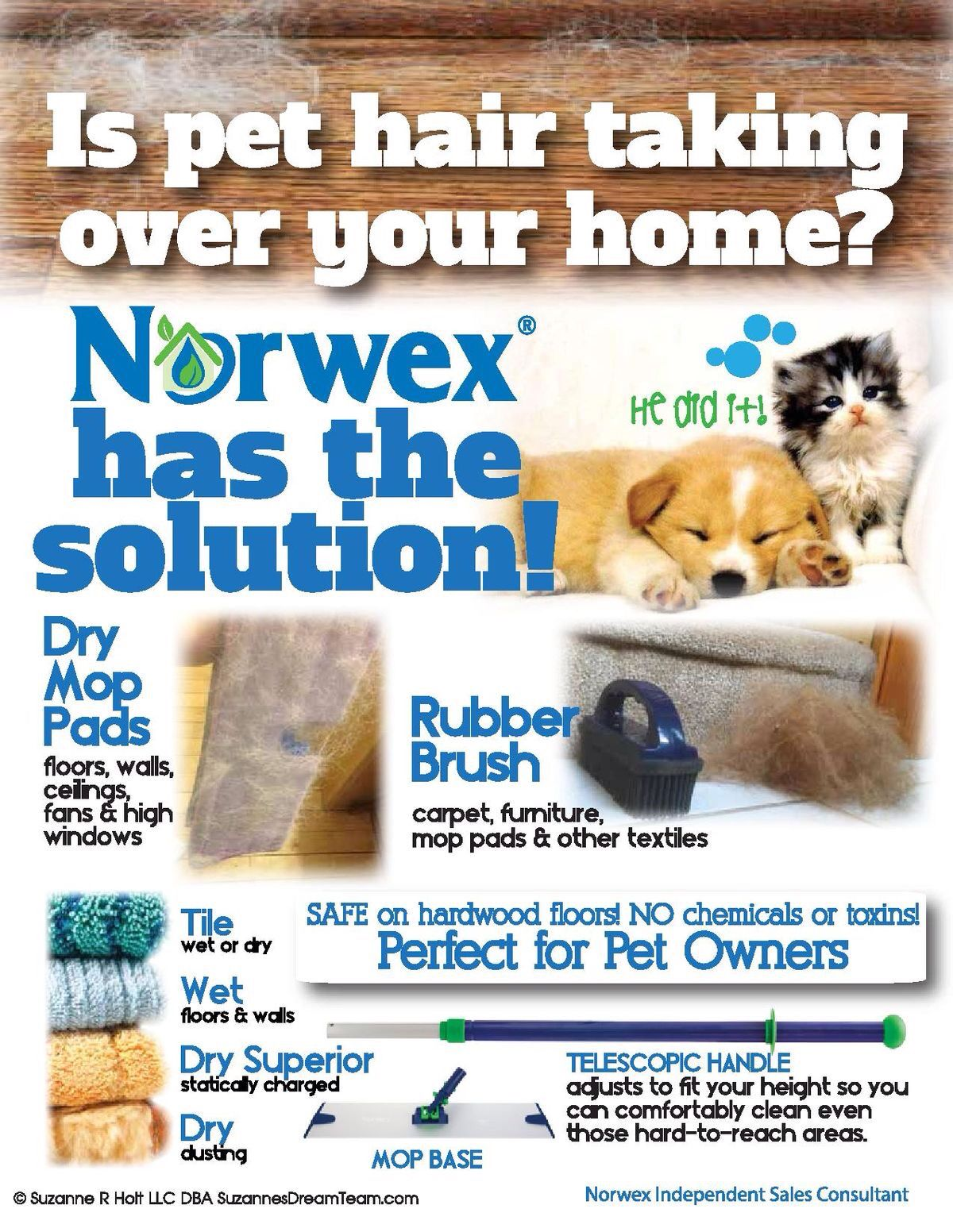 Great for pet hair control norwex mop www