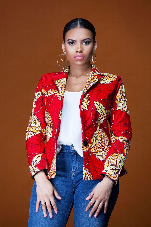 de2f3ac3c50f1 African Print Grassfields Blazer | Kitenge in 2019 | Ankara jackets ...