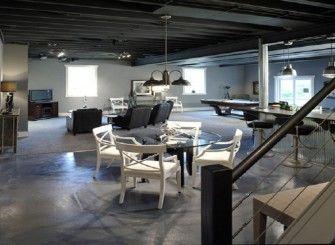 Painting Basement Floor Concrete Cost Effective Way To Finish The Basement Concrete Basement Floors Painting Basement Floors Basement Flooring