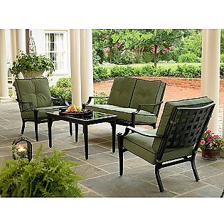 Jaclyn smith today avondale 4 pc seating set kmart item for Outdoor furniture kmart