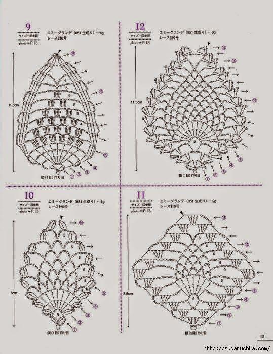 il blog di vera maglia u0026uncinetto  motivi pineapple uncinetto rivista