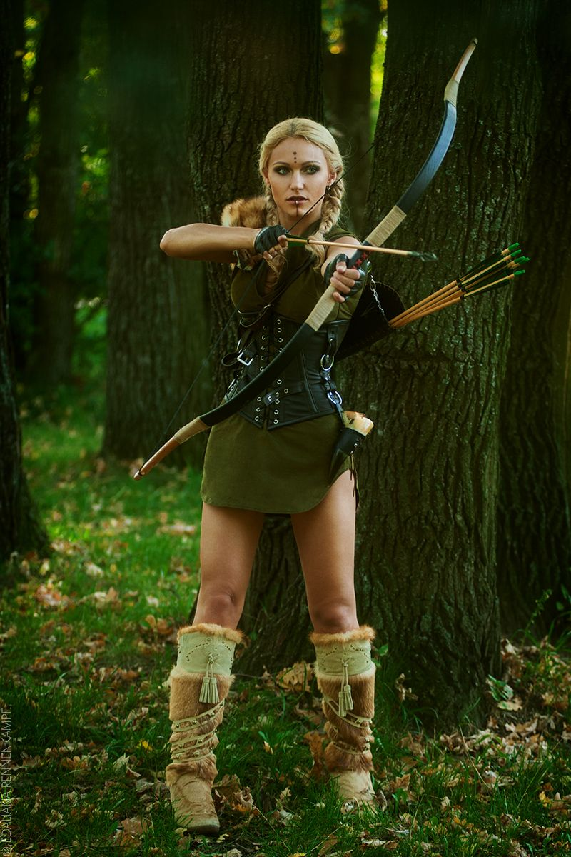 Elven Girl Wallpaper Freyja Larp Diana Artemida Elf Woodelf Hunter Huntress