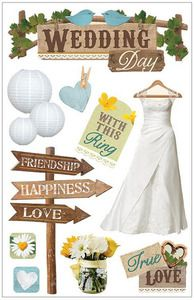 Wedding > Wedding Day 3D Stickers - Paper House: Stickers Galore