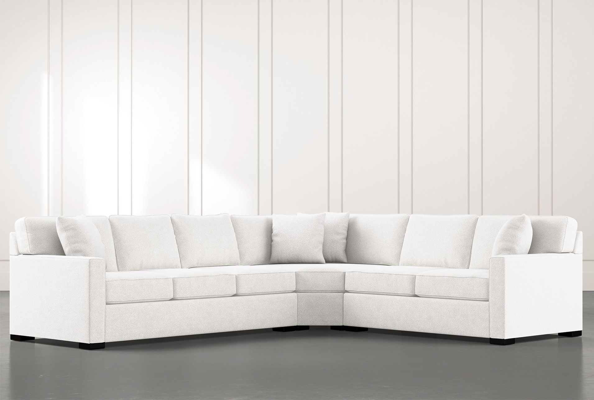 Alder White 3 Piece Sectional With Right Arm Facing Loveseat 3 Piece Sectional Sofa 3 Piece Sectional Sectional