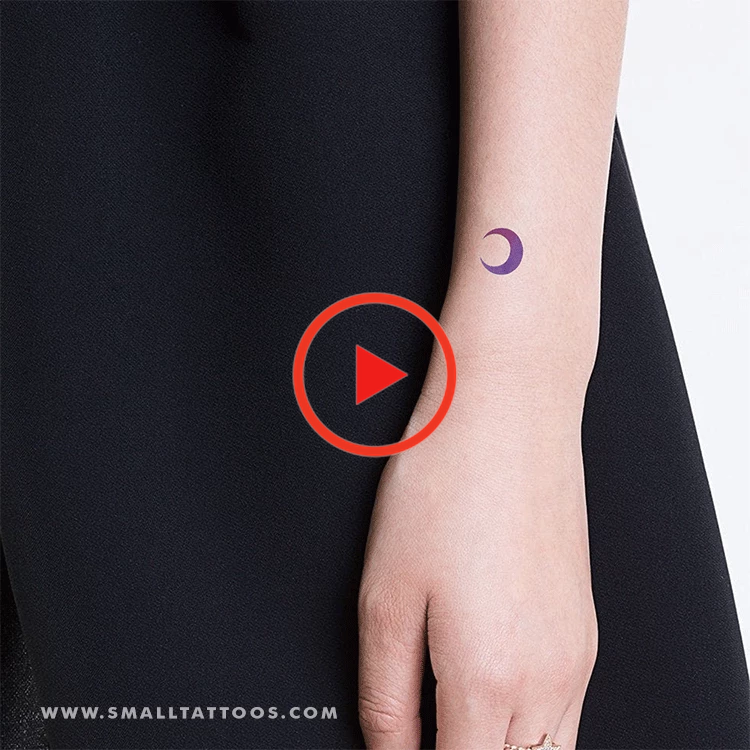 Purple And Pink Crescent Moon Temporary Tattoo By Zihee Set Of 2 In 2020 Tattoos Tattoo Quotes Temporary Tattoos