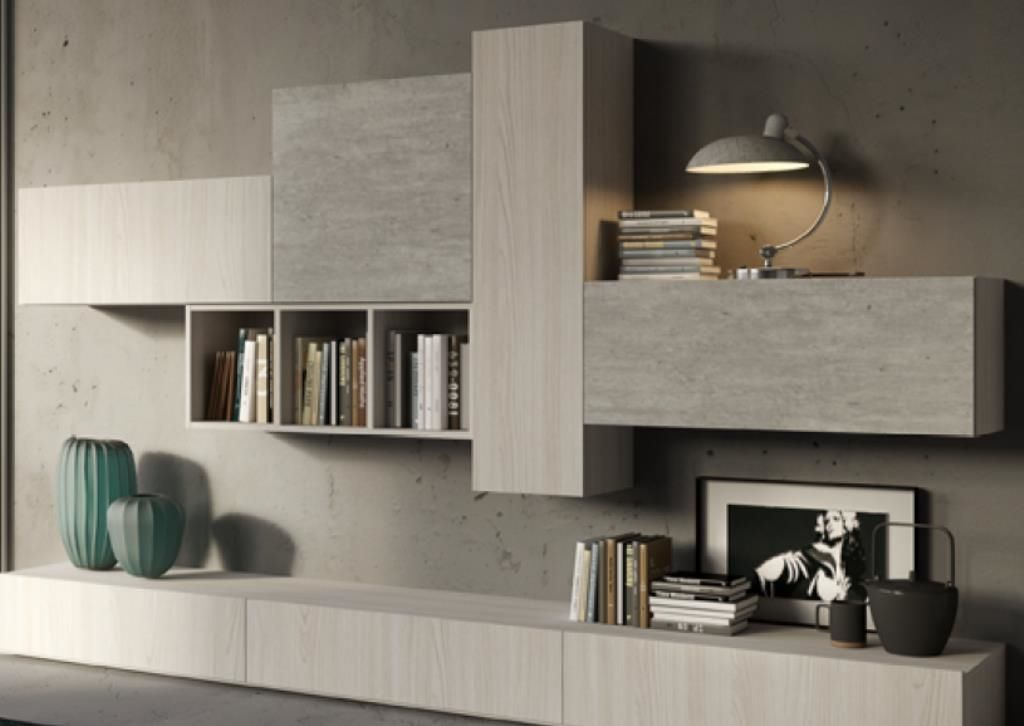 soggiorno alpe start 002 laminato opaco pareti attrezzate moderno arredamento casa pinterest. Black Bedroom Furniture Sets. Home Design Ideas