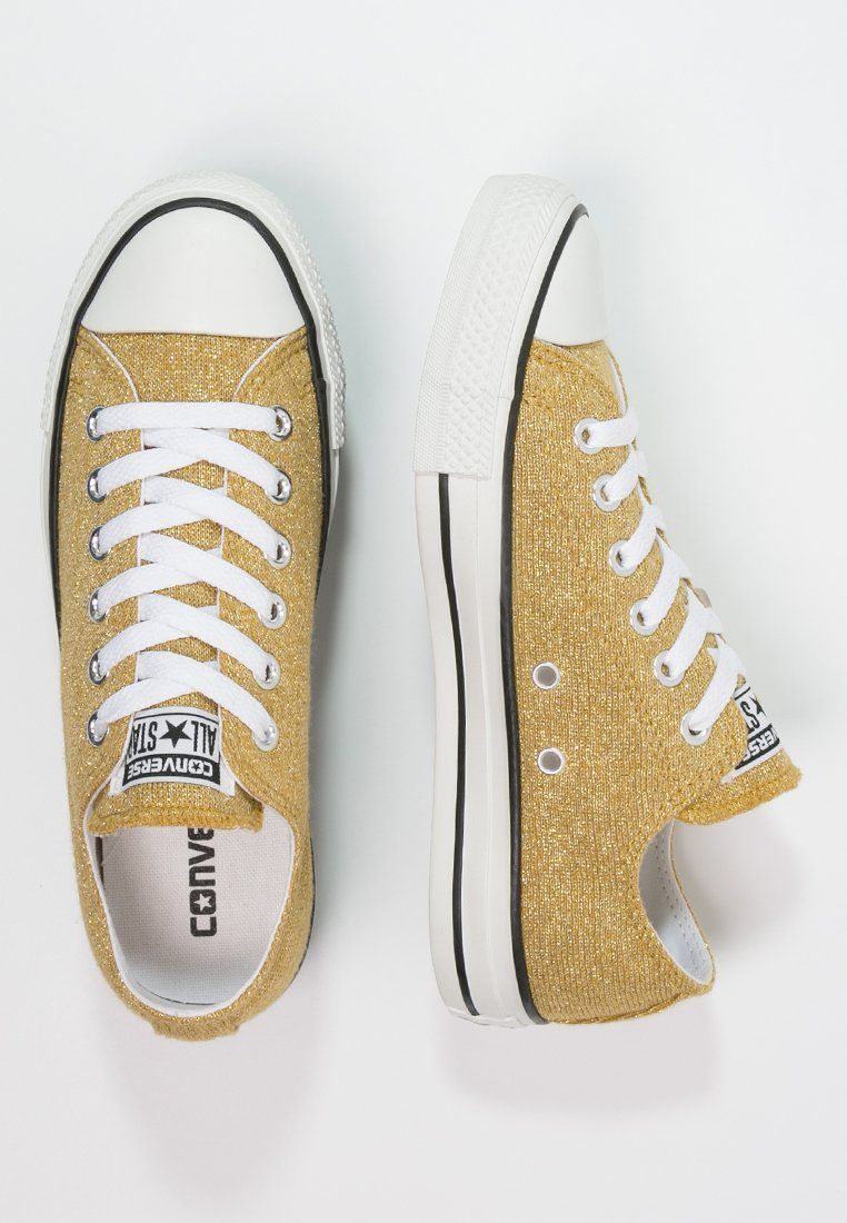 baskets converses gold