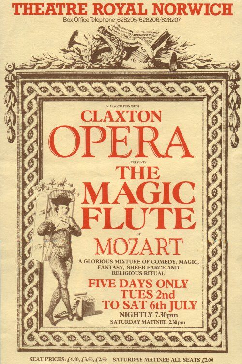 Claxton Opera 2000 The Magic Flute The Magic Flute Flute Opera