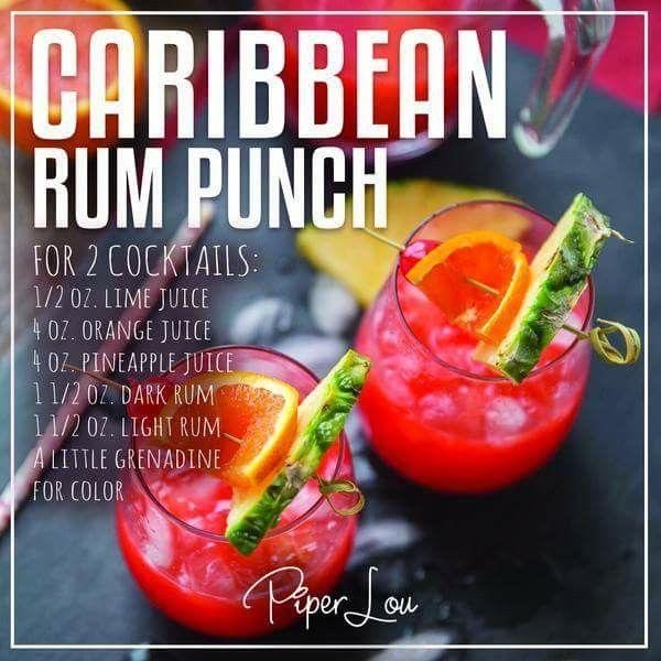 Caribbean Rum, Rum Punch Drink