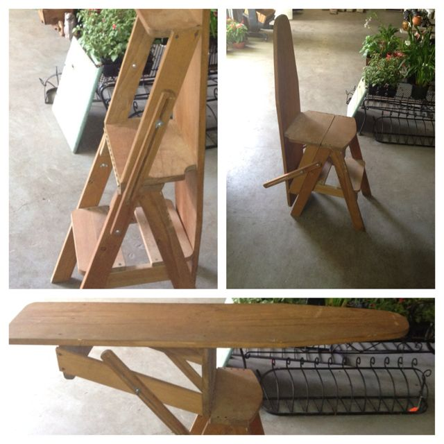 3 In 1 Ironing Board Step Ladder Seat I Want One!