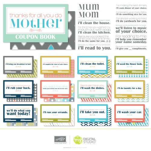 Because I Love You Swatchbook ~ A Coupon Book for Mom ~
