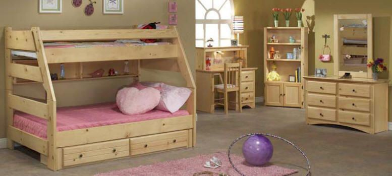 Prescott Twin Over Full Bunk Bed Natural Bunk Bed Plans