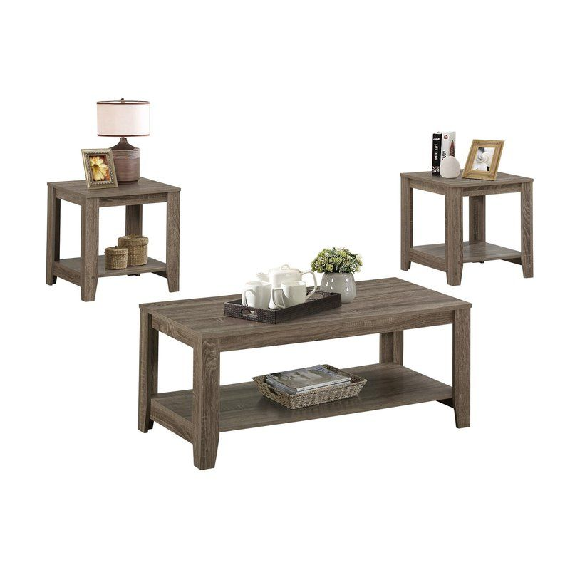 Best Balderston 3 Piece Coffee Table Set Living Room Table 640 x 480
