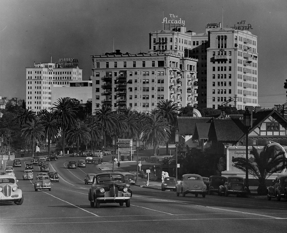 Asbury Apartments Hotel And Arcady 1946 Los Angeles Airport Vintage Los Angeles West Lake