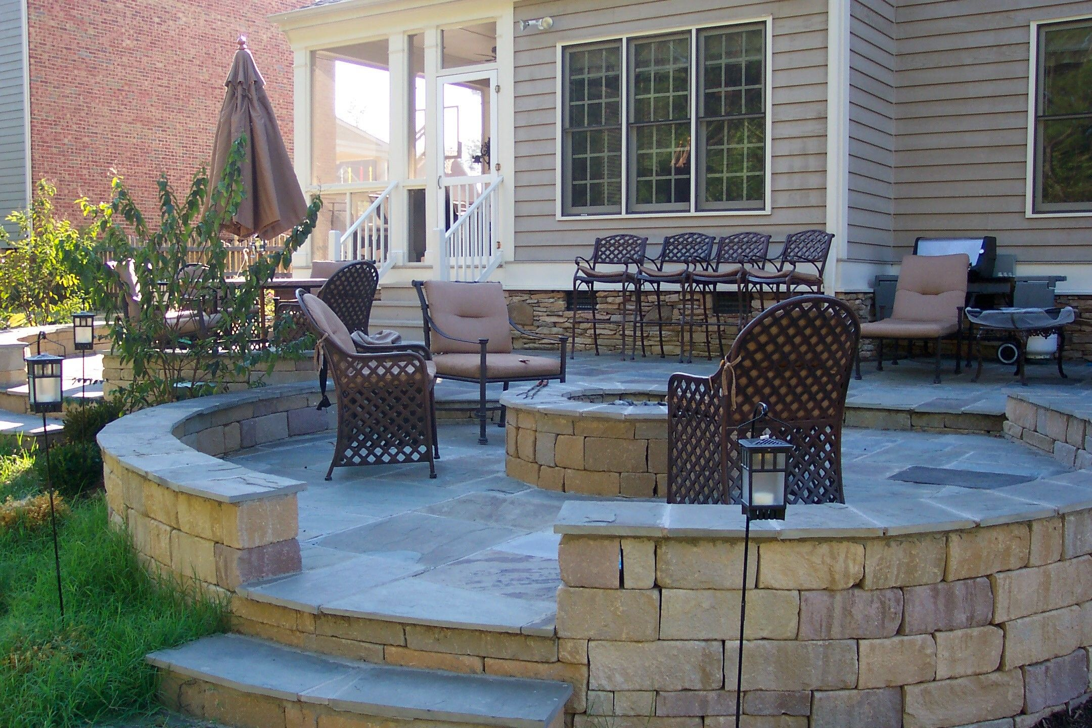 decks with paver fire pit areas Google Search