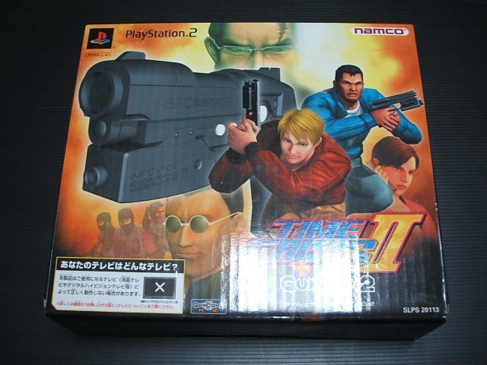 USED Time Crisis II + Guncon 2  Playstation PS2 BOXED NAMCO Import Japan 1325