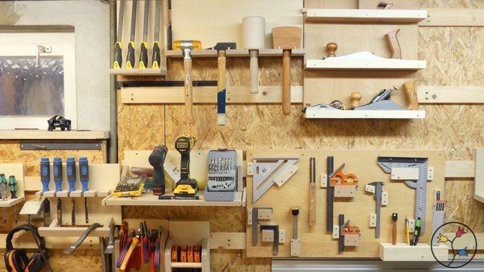 anleitung zum bau von werkzeughaltern f r eine werkzeugwand in der werkstatt french cleat. Black Bedroom Furniture Sets. Home Design Ideas