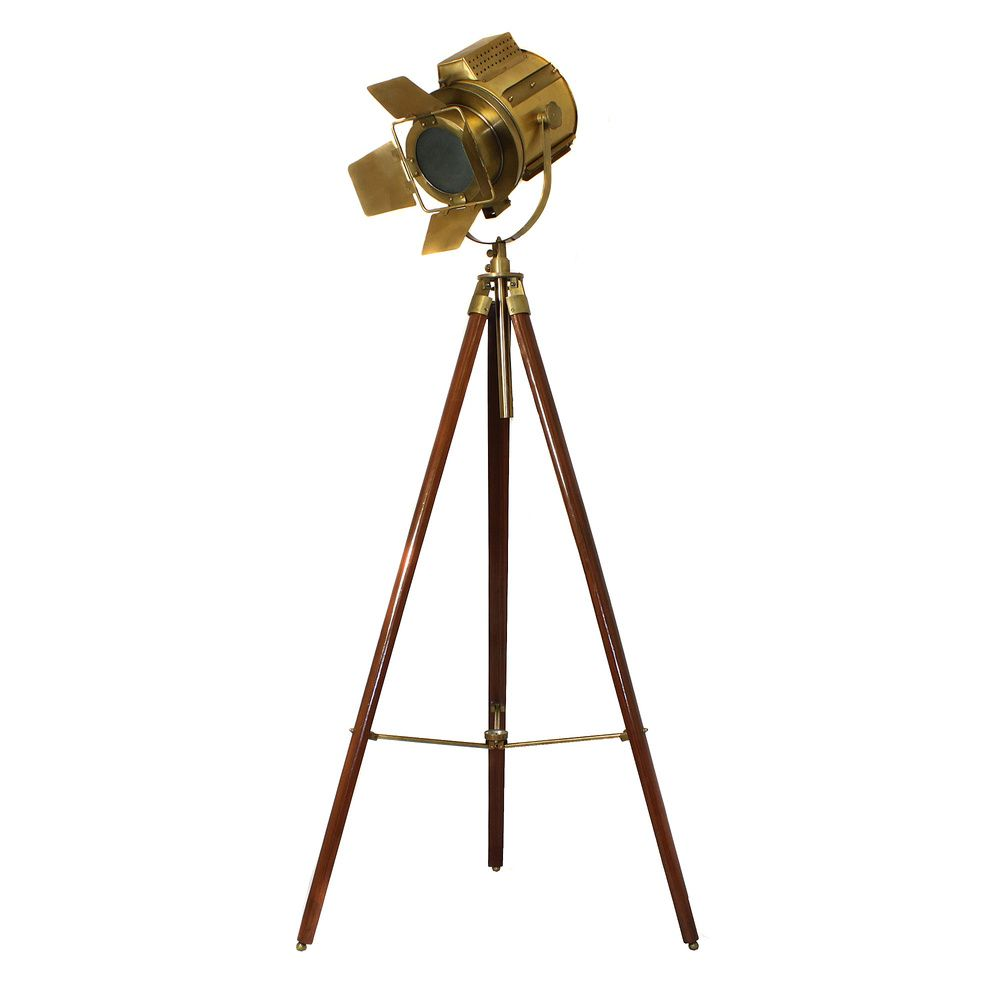 Hollywood Director S Adjustable Aluminum Spot Light Tripod Floor Lamp Regular Dimensions 66