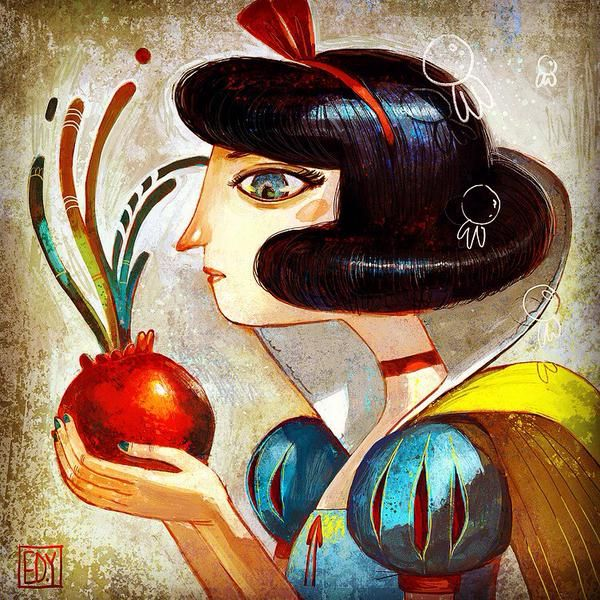 Snow White by Edisonyan for @Sketch_Dailies