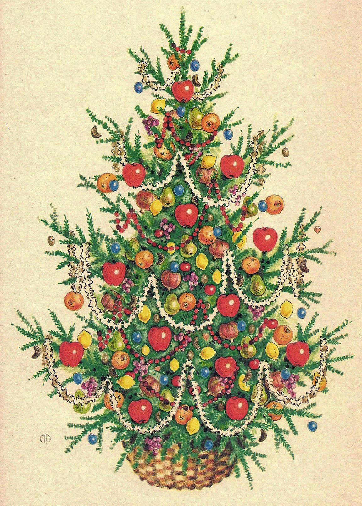 Christmas tree ink oil pencil 1970s by melanie renn for gordon christmas tree ink oil pencil by melanie renn for gordon fraser gallery published as a greeting card m4hsunfo